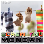 screw you monday cute hamsters clothesline